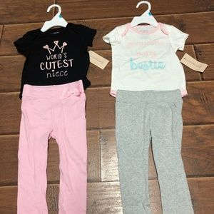 3-6M Girl Outfits w/ bottoms, grandma, aunt